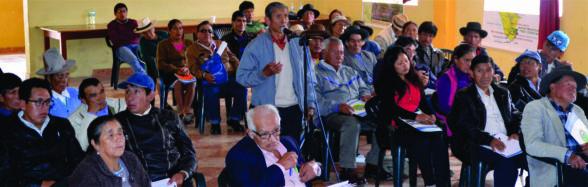 En esta primera reunión se tuvo la participación de los dirigentes de 17 comunidades campesinas de la Mancomunidad Municipal Tres Cuencas.