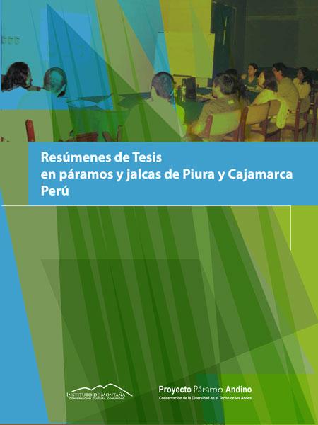 Resúmenes de Tesis en páramos y jalcas de Piura y Cajamarca, Perú