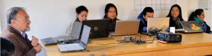 En el taller de redacción general y escritura científica dirigido a egresados de la UNASAM, quienes desarrollan pasantías en el Instituto de Montaña.