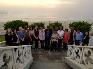 Epecialistas del Programa Escalando AbE Montaña provenientes de seis países participan en reunión global en Perú