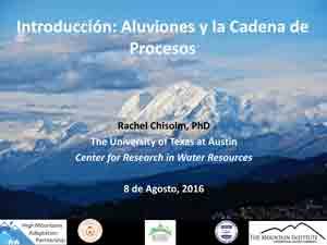 Aluviones y la cadena de procesos