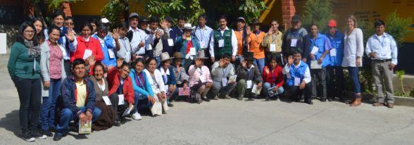 El equipo participante a la jornada del Encuentro de Investigadores Campesinos de la zona sierra Ancash