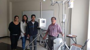 El equipo del CIAD de la Unasam, liderados por el Ing. Rafael Figueroa Tauquino y pasantes del Instituto de Montaña