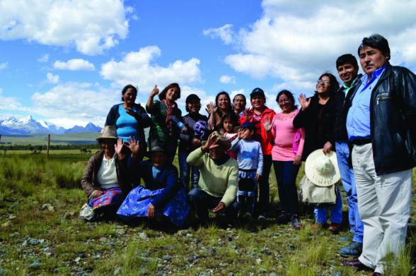 Luego de las tareas en campo, foto del recuerdo taller de video participatico en Santa Cruz -distrito de Ticapampa-provincia de Recuay.