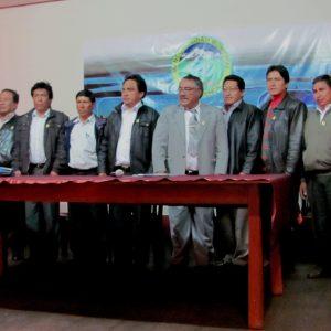 Alcaldes Mancomunidad Tres Cuencas. (archivo IM)