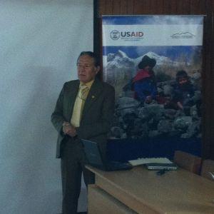 El Gerente Regional de Recursos Naturales y Gestión de Medio Ambiente del Gobierno Regional de Ancash Aurelio Enrique Angeles Olivera al frente de las labores