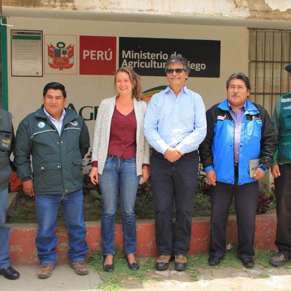 El equipo de especialistas de Agro Rural y del Instituto de Montaña prestos para emprender las labores en las comunidades en el uso y gestión responsable del recurso hídricos.