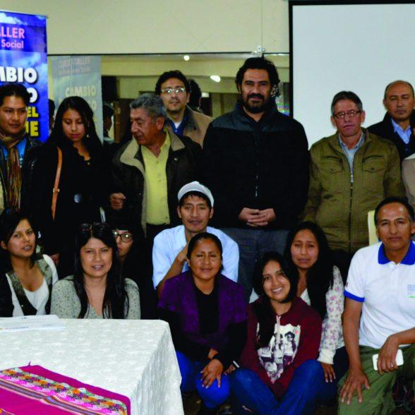Comunicadores de las tres mancomunidades municipales: Río Yanamayo, Tres Cuencas y Waraq en Ancash, luego de las jornadas de capacitación