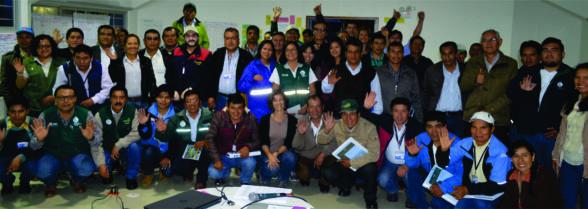 Profesionales y técnicos de Agrorural participantes en el cursoestrategias de Adaptación al cambio Climático en las comunidades de las Reserva de Biósfera Huascarán